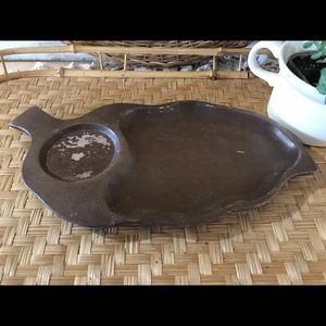 Vintage Monkey Pod Appetizer Tray